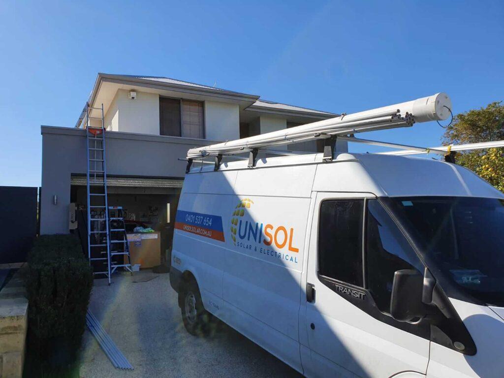 Unisol Solar & Electrical Work Van
